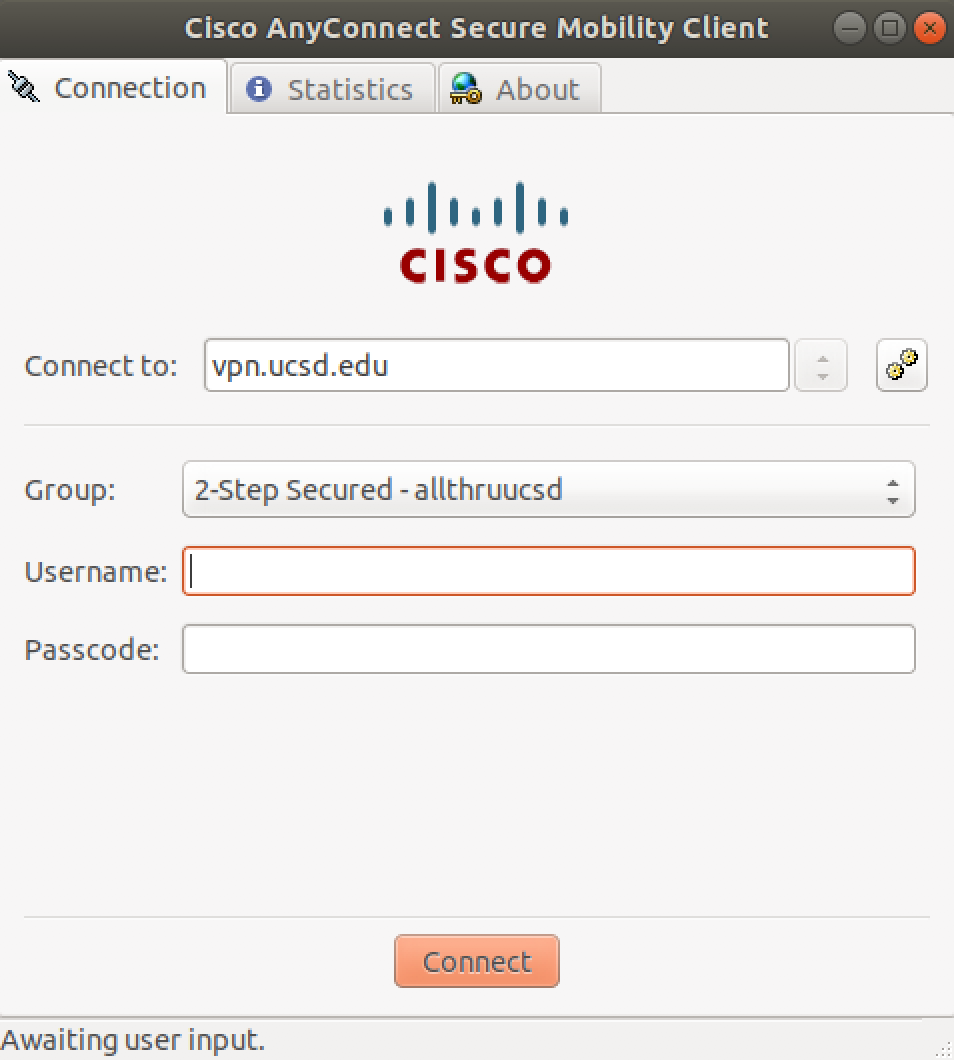 Cisco Any Connect screen shot