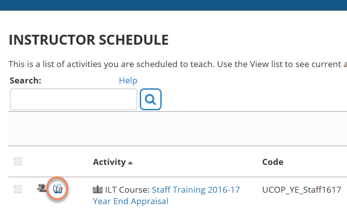 UC Learning Center Activity Roster Report Icon Screen Shot