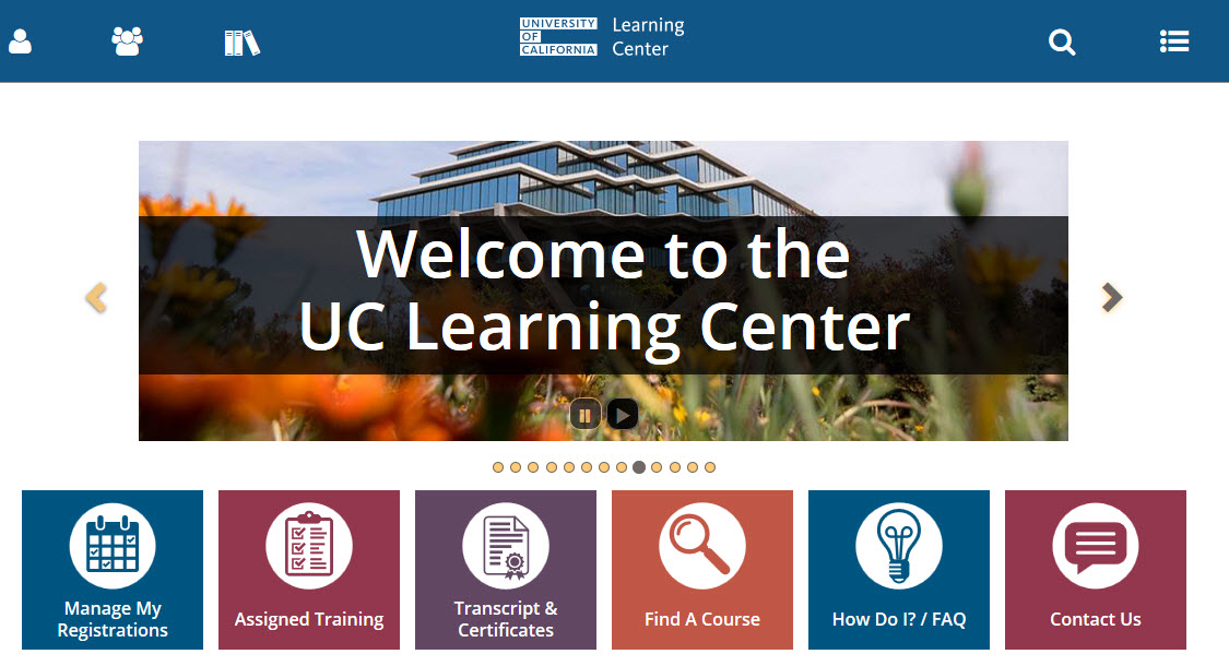 UC Learning Center Dashboard