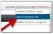 UC Learning Center Switch View Screenshot
