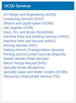 Marketplace Homepage UCSD Services Feature