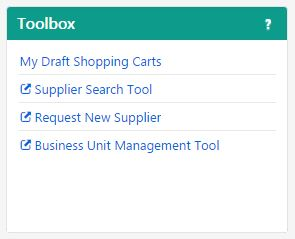 Marketplace Homepage Toolbox Feature