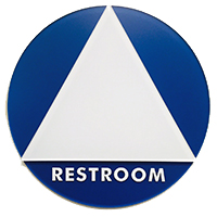 gender inclusive restroom sign