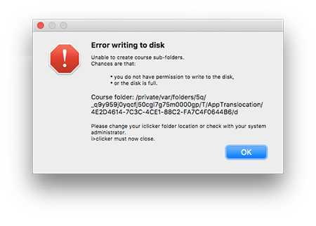 Mac error message