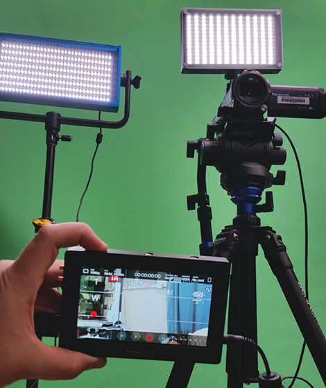 Instructional Camera Kit and green screen