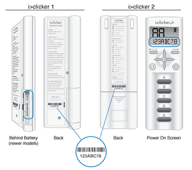 iclicker remote ID