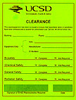Green clearance card