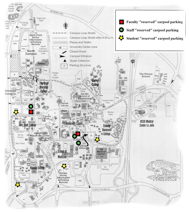 Ucsd Motorcycle Parking Map