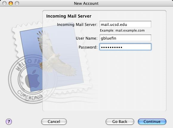 Setting Up Mail on Mac for OS X 10 6 x – 10 9 x for IMAP