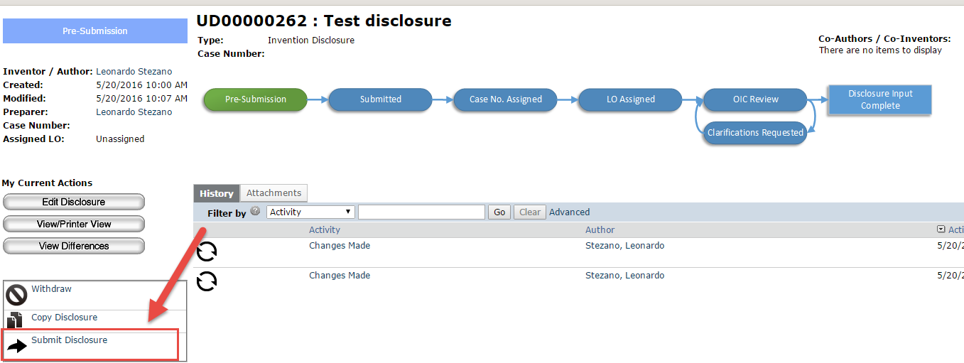 Invention Disclosure System