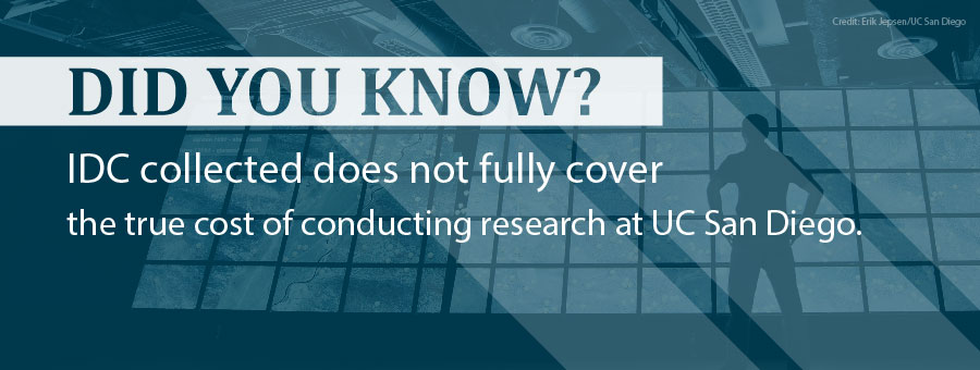 Did you know? IDC collected does not fully cover the true cost of conducting research at UC San Diego.