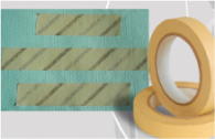 Autoclave tape with diagonal stripes probably contains lead