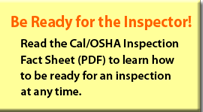 Be Ready for the Inspector!