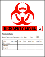 Biosafety Level Sign