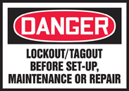 Lockout/ Tagout sign