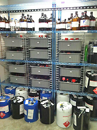 Chemical storage area