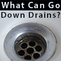 what can go down drains