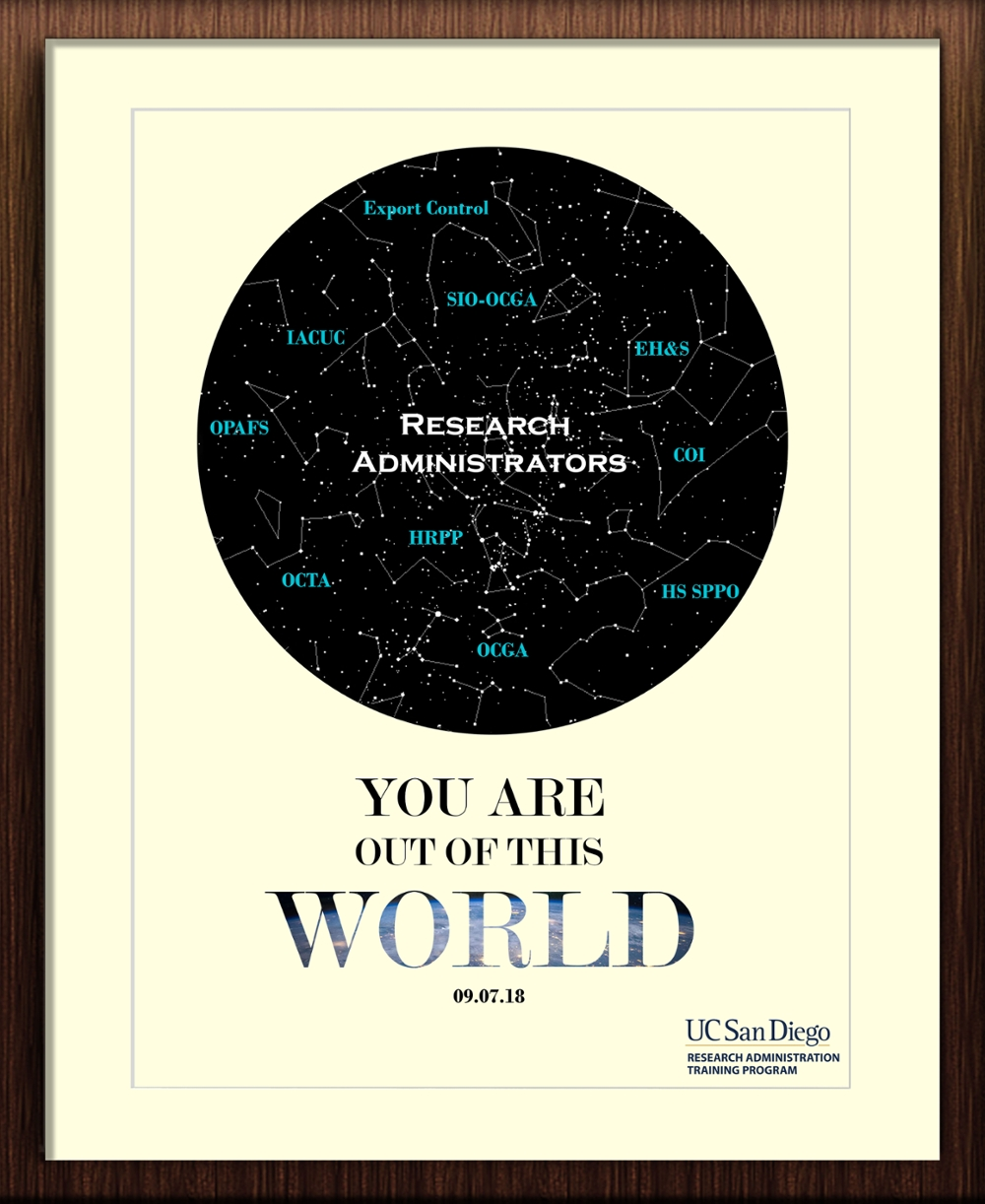You Are Out of This World Poster