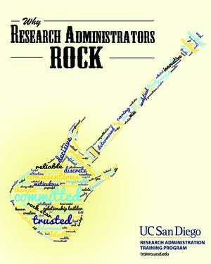 Why Research Administrators Rock Guitar Word Cloud
