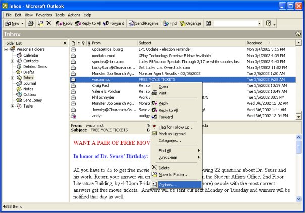 how to find unread emails in outlook web access