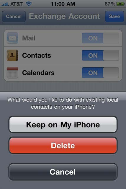how to add exchange email to gmail iphone