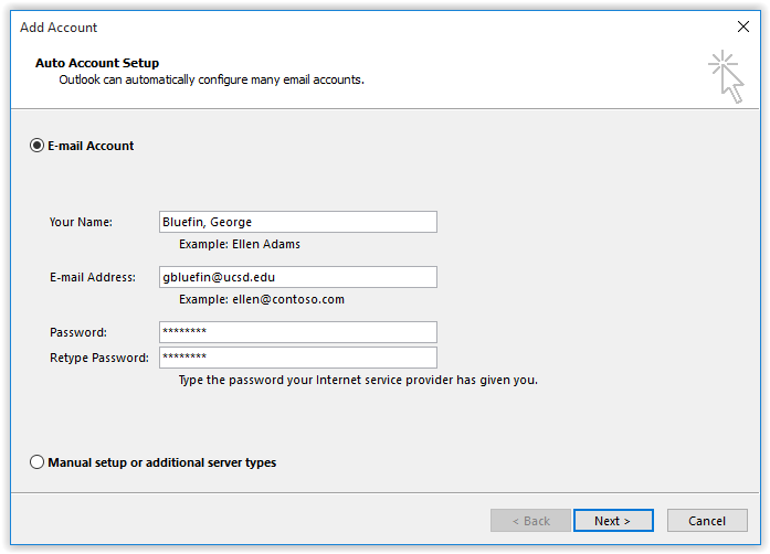 Change Outlook Password >> Setting Up Outlook 2016 for Exchange