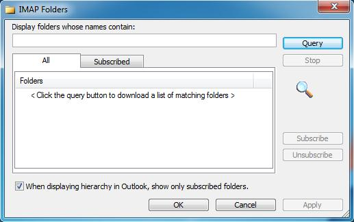 how to use imap with outlook