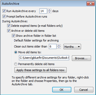 Cleaning Up your Mailbox - Microsoft Outlook 2010