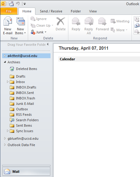 Archive folder list view