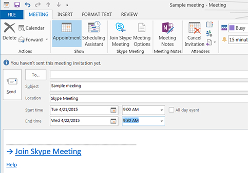 skype meeting add in for outlook 2019