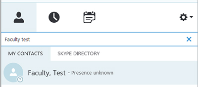 Skype search bar