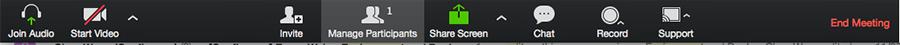 Manage participants screen shot