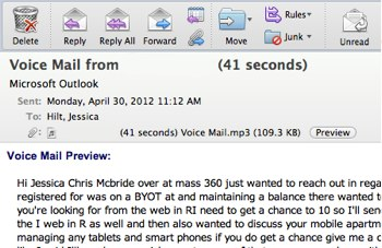 Voice mail privacy m4hsunfo Choice Image