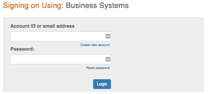Business Systems screen shot