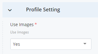 Profile Setting screenshot
