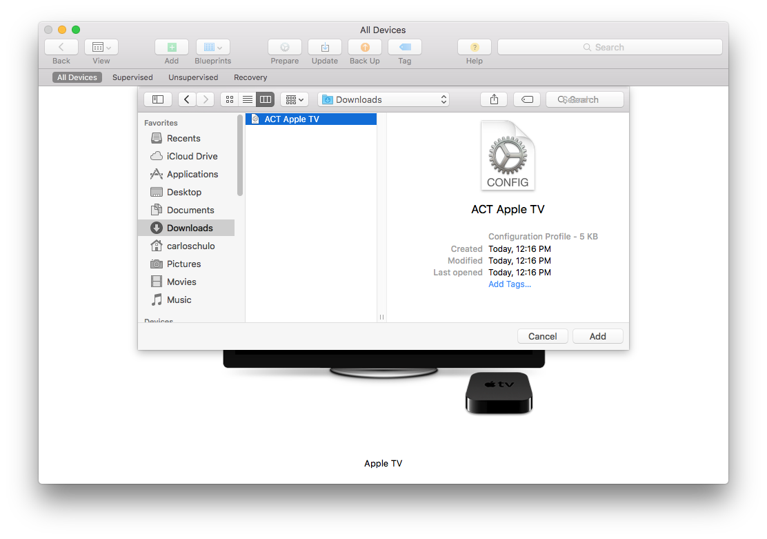 Profile as listed in finder from Apple Configurator 2