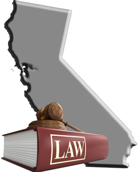 State of California with Law Book